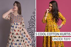 5 Cool Cotton Kurtis Under - The Ethnic Soul Cotton Anarkali, Anarkali Kurti, India Fashion, Ethnic Fashion, Womens Fashion, Modern Fashion, Manish Malhotra Saree, What Is Trending Now, Social Media Trends
