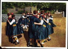 Ansichtskarte / Postkarte Hessische Trachten, Schwälmer Tanz, Paartanz, Paare in Landestrachten #Schwalm