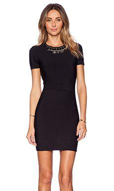 BCBGMAXAZRIA Kaylen Embellished Dress in Black