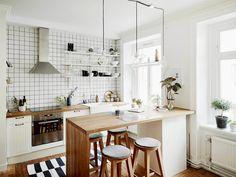 Барная стойка в интерьере кухни