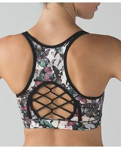 lululemon-sweaty-or-not-bra butterfly | workout gear  for Women | Yoga Tops | SHOP @ FitnessApparelExpress.com