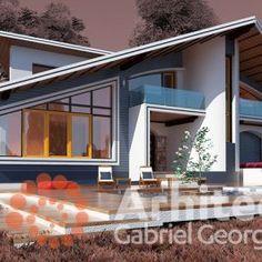 Casa cu etaj 61 | Proiecte de case personalizate | Arhitect Gabriel Georgescu & Echipa Case, Outdoor Decor, Home Decor, 2nd Floor, Floors, Dream Homes, Facades, Decoration Home, Room Decor