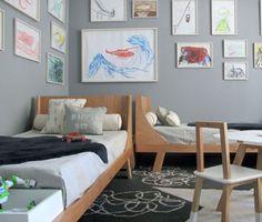 Deux lits placés en perpendiculaire - Marie Claire Maison