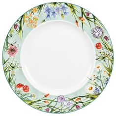 We love this new tableware range inspired by HRH The Prince Of Wales's Coronation Meadows project...with it's finely detailed botanically illustrated meadow flowers.