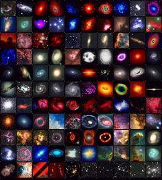 Mosaico de Galaxias y Nebulosas
