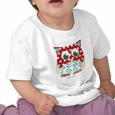 Búho del muchacho del remiendo de la aplicación camisetas