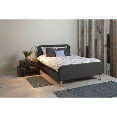 Agnes seng 180x200, mørkegrå - Kæmpe udvalg af billige senge