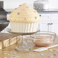White giant cupcake