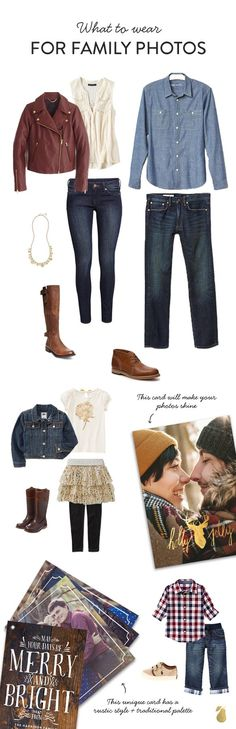 We've crafted the best outfit ideas for the best family photos ever! And, we've paired it with matching Christmas Cards!