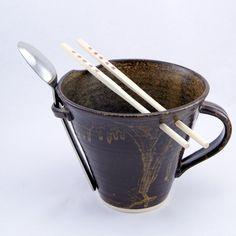 Ready for Ramen Bowl. Ramen Bowl, Noodle Bowls, Rice Bowls, Chopsticks, Gifts For Husband, International Recipes, Noodles, Pottery Ideas, Fancy