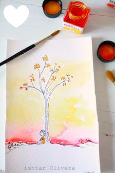 so simple and so beautiful, watercolor