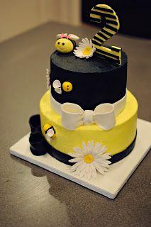 Bumble Bee birthday cake. Strawberry Lemonade cake.