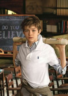 New face of RL Kids: Levi Miller serves as the new brand ambassador for Ralph Lauren Children's wear. Levi is the star of the upcoming film Pan. Levi Miller, Boys Haircut Styles, Ralph Lauren Kids, Trendy Haircuts, Kids Fashion Boy, Trendy Fashion, Men's Fashion, Brand Ambassador, Kind Mode