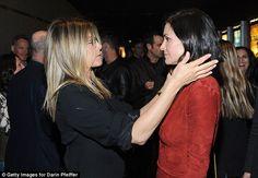 Jennifer Aniston sexy in specs as she enjoys Courteney Cox reunion #dailymail