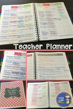 Teacher Lesson Plan Book - Great for Back to School - Two Color Variations Available $ - Editable
