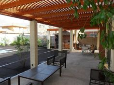 Pergola Attached To Roof Product Pergola Plans, Diy Pergola, Pergola Kits, Backyard, Exterior, Outdoor Structures, Closet Ideas, Triangle, Metal Structure