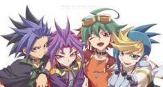 Rokuro, Yu-Gi-Oh!, Yu-Gi-Oh! ARC-V, Yuri (Yu-Gi-Oh! ARC-V), Yuugo (Yu-Gi-Oh! ARC-V), Yuto (Yu-Gi-Oh! ARC-V)