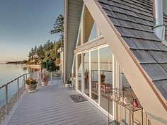 A-frame decks are just more inviting.