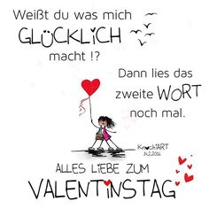 Weißt du was mich #GLÜCKLICH macht !? Dann lies das zweite #WORT ✨ noch mal .  ALLES #LIEBE ZUM #VALENTINSTAG ❤️ #Spruch #sprüche #sprüche4you #spruchdestages ✅ #verliebt #romantik #bff Erwähnen von jemand der dir am #Herzen  liegt ABSOLUT...
