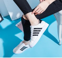 #rosegal #dupe #trainers Shell PU Athletic Shoes by Rosegal (Adidas dupe)