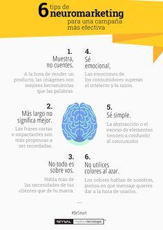 6 tips de #Neuromarketing para una campaña más efectiva || #infografía
