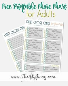 Trying to set better habits for yourself? Check out this Printable Daily Health 'Chore Chart' for Grown-Ups! ‪#‎DailyRepairDifference‬ ‪#‎ad‬