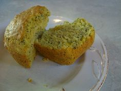 Lactose free lemon poppyseed muffins
