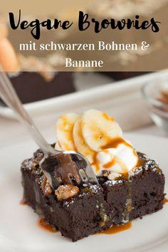 Vegane Brownies mit schwarzen Bohnen & Banane