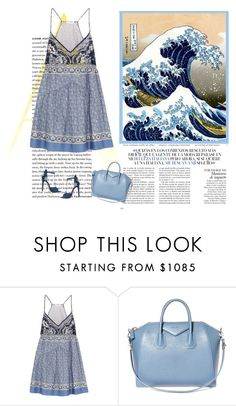 """""""THE GREAT WAVE BY HOKUSAI"""" by bodangela ❤ liked on Polyvore featuring DuÅ¡an, Chloé, ShoeDazzle and Givenchy"""