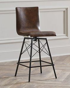 $699  Tiago Leather Counter Stool