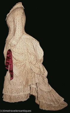 c.1880 cotton day dress - @Kelly Moyer and @Amy Kammerer This is kind of what my party dress will look like.  Buying the fabric today ;)