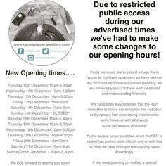 has some changes to the opening hours