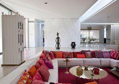 Living Room Nook Ideas: Sunken Design by Alexander Girard | Modern Interiors