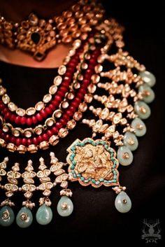 chunky layered necklace, vintage,Aza