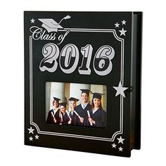 Now your graduate's special memories have a perfect place to be gathered. This thoughtful memory holder displays a favorite photo on the front, whi...