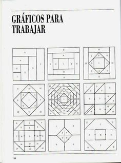Patchwork Course – Courses and tutorials for crafts - Deutschland Ideen Patchwork Quilt Patterns, Barn Quilt Patterns, Paper Piecing Patterns, Pattern Blocks, Tutorial Patchwork, Patchwork Ideas, Patchwork Fabric, Log Cabin Patchwork, Log Cabin Quilts