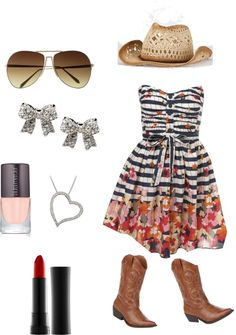 """""""Cow~Girl:)"""" by kylee-jones ❤ liked on Polyvore"""