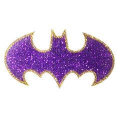 Batman Batgirl Logo Crystal Studded Large Decal - Elephant Gun - Batman - Stickers at Entertainment Earth