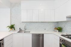 a82 kitchen — alexandra macmillan Kitchen Dining, Kitchen Cabinets, Kitchen White, My Ideal Home, White Marble, Cupboard, Appliances, Interior Design, Kitchens