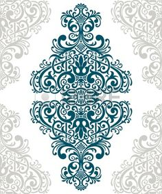 Vintage Baroque Border Frame Card Cover Floral Motif Arabic Retro Pattern Ornate Royalty Free Images