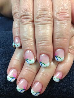 Naomi's nails. Spring fling gel nail art.