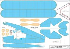 1937 Flying Aces Moth 1/3 scale card model by sola_technical.