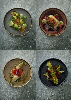 Når maten får sin egen scene... Lekker servering på vårt Nara servise... Vi bare elsker hvordan fargene klarer å fremme kokkekunsten...