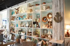 Beachy goodies at the The Southern Grind Coffee House in Orange Beach, AL {featured on House of Turquoise}