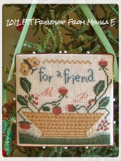Friends Through Threads.  PS Spring, Birds and Baskets