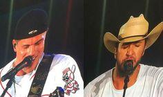 Luke Bryan Wears Dustin Lynch's Cowboy Hat