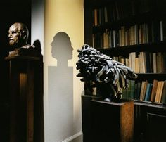 "actegratuit: "" BLACK NARCISSUS, 2006 Black poly-sulphide rubber, wood, light projector 38 x 72 x cm x in) Installation for the Polymorphous Perverse show at the Freud Museum,. Point Light, Shadow Art, Abstract Images, Making Out, Contemporary Art, Sculptures, Old Things, Museum, The Incredibles"