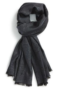 Lanvin Honeycomb Pattern Wool & Silk Scarf