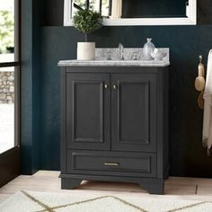 "Melay Glass Laguna 1"" x 4"" Glass Mosaic Tile & Reviews   Wayfair Double Sink Bathroom, Single Bathroom Vanity, Wood Charcoal, Mirror Backsplash, Glass Installation, Vanity Set With Mirror, Ceramic Sink, Bathroom Essentials, Glass Mosaic Tiles"