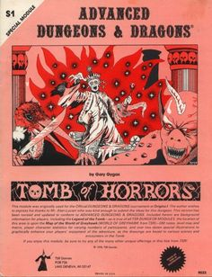 """S1 """"Tomb of Horrors"""", AD&D 1st Edition, TSR9022... S """"Special"""", 1 of 5"""